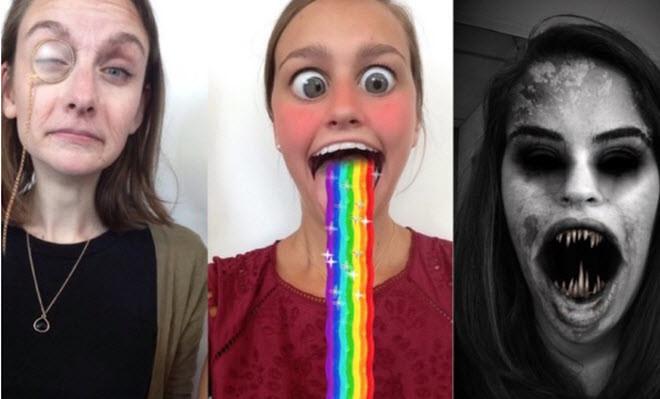 selfies patrocinados snapchat